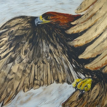 'Golden Eagle' 102cm x 153cm Acrylic on canvas