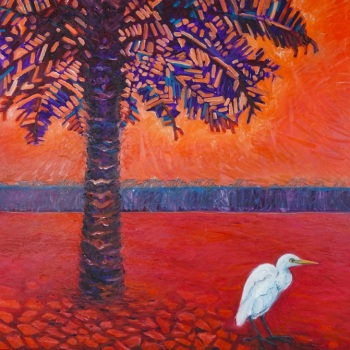 'Egret' 91cm x 122cm Oil on canvas