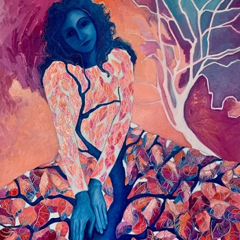 'She breathes with the trees (2)'