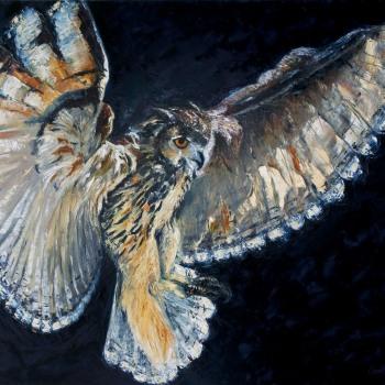 'Eagle Owl' Oil on canvas 122cm x 152cm