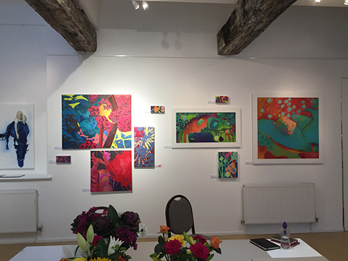 portraits and abstracts at The Malthouse Gallery at The Town Mill, Lyme Regis
