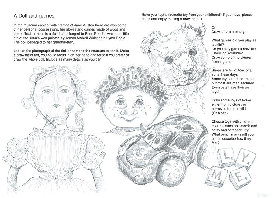 Doll & games sheet
