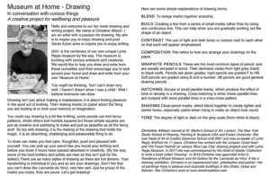 Museum at home leaflet - drawing introduction