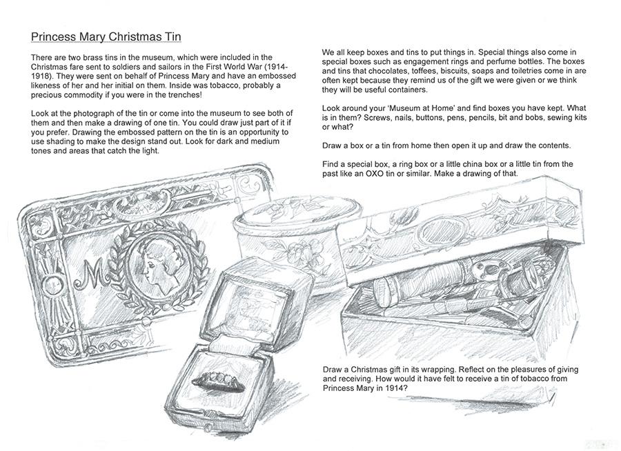 The Princess Mary Christmas Tin sheet